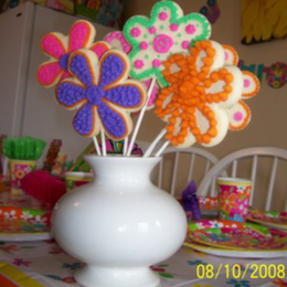 Thumb victoria birthday flower cookies