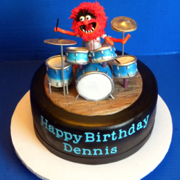 Excellent Animal Drum Cake By Michelle39S Cake Designs Cakeside Funny Birthday Cards Online Aboleapandamsfinfo