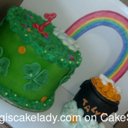 ST. Patties Day Cake 1 year old