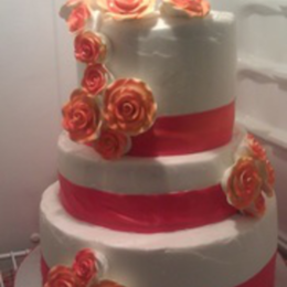 Strawberry Almond Wedding Cake