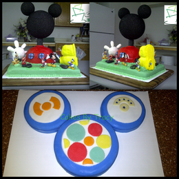 Stupendous Mickey Mouse Club House Amp Toodles Cake By Cakes By Tracy Funny Birthday Cards Online Alyptdamsfinfo