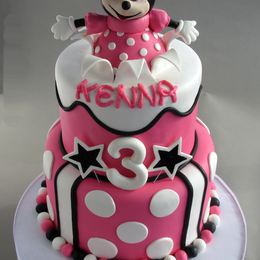 Minnie Mouse Popping Out of Cake