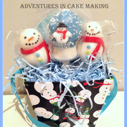Snowman Cake Pop Bouquet