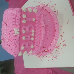 Pink Baby Shower Cake