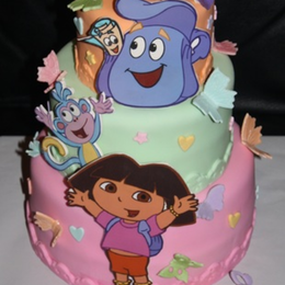 Remarkable Dora Birthday Cake By Annie Rosario Cakeside Personalised Birthday Cards Paralily Jamesorg