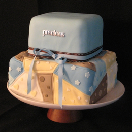 Patchwork Quilt Baby Shower Cake